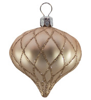 QUILTED ONION BAUBLES - ROSE GOLD MATT - Rose Gold