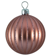 RIBBED BAUBLES - MATT BLUSH PINK - Pink