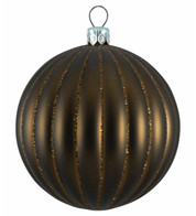 RIBBED BAUBLES - BROWN MATT - Brown