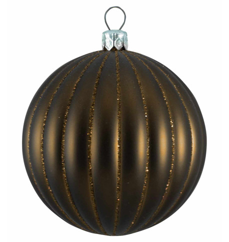 RIBBED BAUBLES - BROWN MATT Brown