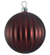 RIBBED BAUBLES - BURGUNDY MATT - Red