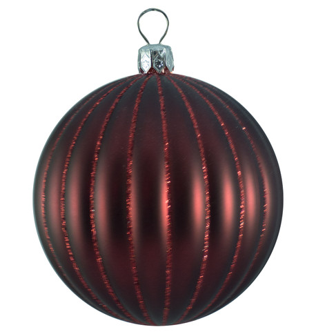 RIBBED BAUBLES - BURGUNDY MATT Burgundy