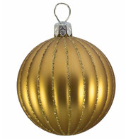 RIBBED BAUBLES - MATT GOLD - Gold