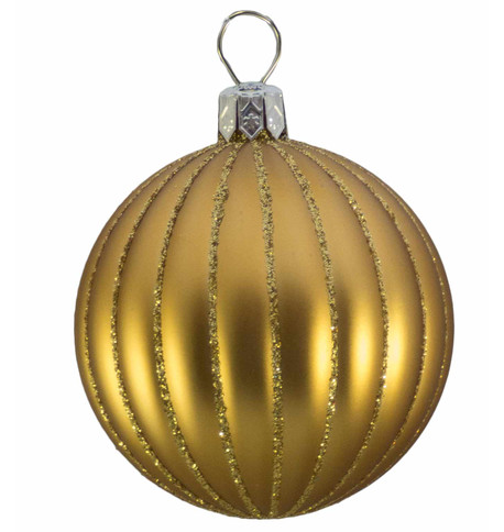 RIBBED BAUBLES - MATT GOLD Gold