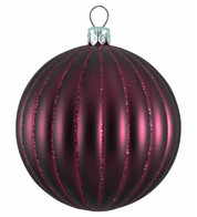 RIBBED BAUBLES - MULBERRY MATT - Purple