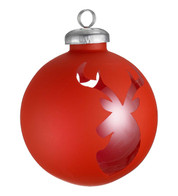 CUT OUT RED WRAP BAUBLES - DEER - Red