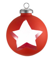 CUT OUT RED WRAP BAUBLES - STAR - Red