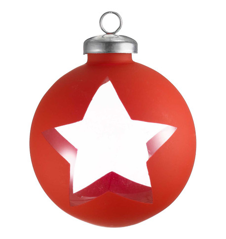 CUT OUT RED WRAP BAUBLES - STAR Red