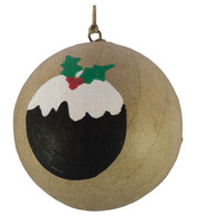 KRAFT BAUBLES - CHRISTMAS PUDDING - Natural