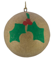 KRAFT BAUBLES - HOLLY - Natural