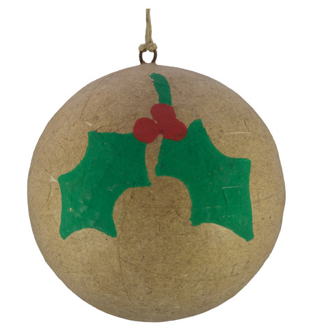 KRAFT BAUBLES - HOLLY Natural