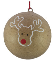 KRAFT BAUBLES - DEER OUTLINE - Natural