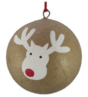 KRAFT BAUBLES - DEER - Natural
