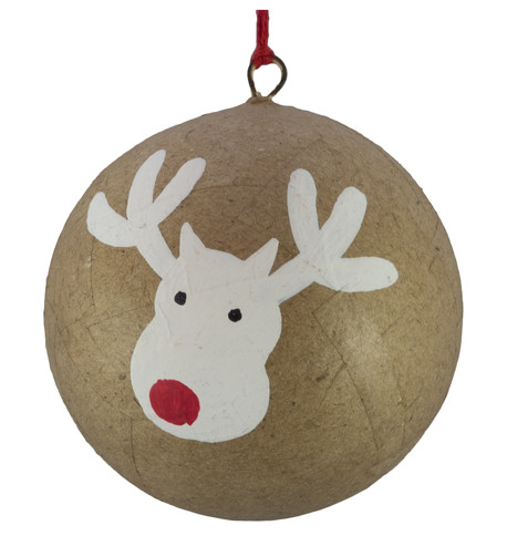 KRAFT BAUBLES - DEER Natural