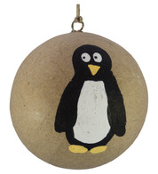 KRAFT BAUBLES - PENGUIN - Natural