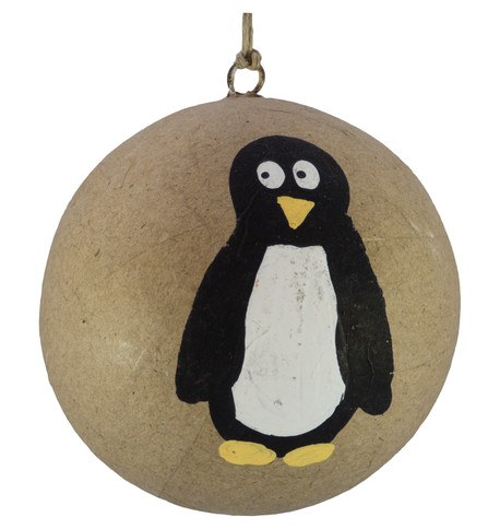 KRAFT BAUBLES - PENGUIN Natural