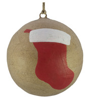 KRAFT BAUBLES - STOCKING - Natural