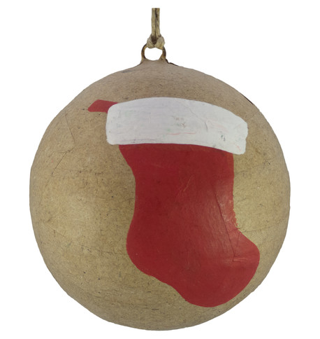 KRAFT BAUBLES - STOCKING Natural