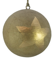 KRAFT BAUBLES - LARGE GOLD STAR - Gold