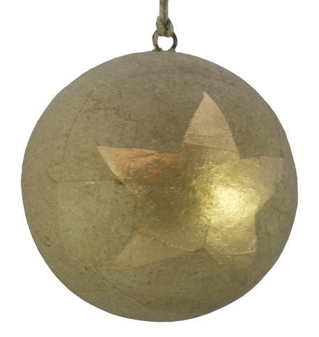 KRAFT BAUBLES - LARGE GOLD STAR Gold