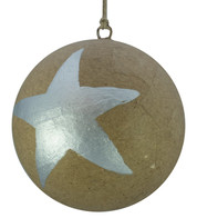 KRAFT BAUBLES - LARGE SILVER STAR - Silver