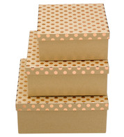 SQUARE KRAFT BOXES - COPPER SPOTS - Copper