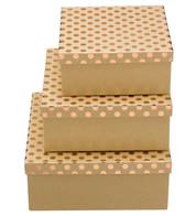 SQUARE KRAFT BOXES - COPPER SPOTS - Copper