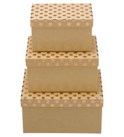 RECTANGULAR KRAFT BOXES - COPPER SPOTS - Copper
