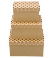 RECTANGULAR KRAFT BOXES - COPPER SPOTS - Copper