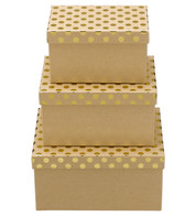 RECTANGULAR KRAFT BOXES - GOLD SPOTS - Gold