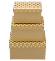 RECTANGULAR KRAFT BOXES - GOLD SPOTS - Gold