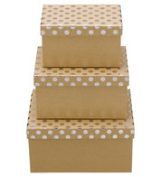 RECTANGULAR KRAFT BOXES - SILVER SPOTS - Blue