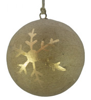 KRAFT BAUBLES - GOLD SNOWFLAKE - Gold
