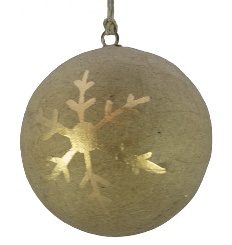 KRAFT BAUBLES - GOLD SNOWFLAKE Gold
