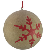 KRAFT BAUBLES - RED SNOWFLAKE - Red