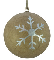 KRAFT BAUBLES - SILVER SNOWFLAKE - Silver