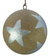 KRAFT BAUBLES - SILVER STARS - Silver