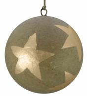 KRAFT BAUBLES - GOLD STARS - Gold