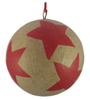 KRAFT BAUBLES - RED STARS - Red