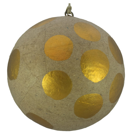 KRAFT BAUBLES - COPPER dots Copper