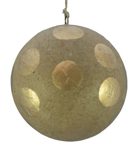 KRAFT BAUBLES - GOLD dots Gold