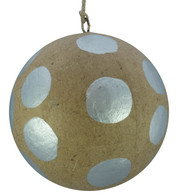 KRAFT BAUBLES - SILVER dots - Silver
