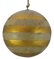 KRAFT BAUBLES - COPPER STRIPES - Copper