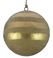 KRAFT BAUBLES - GOLD STRIPES - Gold