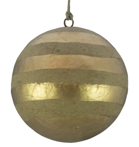 KRAFT BAUBLES - GOLD STRIPES Gold