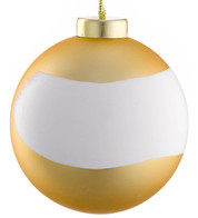 PAINTWORKS GOLD MATT BRUSH BAUBLE - Gold