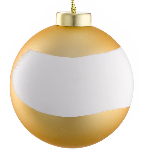 PAINTWORKS GOLD MATT BRUSH BAUBLE Gold