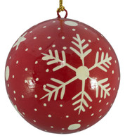 RED & WHITE BAUBLES - Snowflakes & stars - Red And White