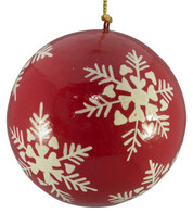 RED & WHITE BAUBLES - snowflakes - Red and White