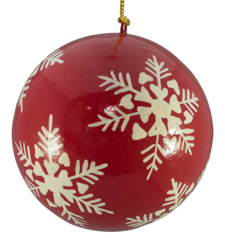RED & WHITE BAUBLES - snowflakes Red And White